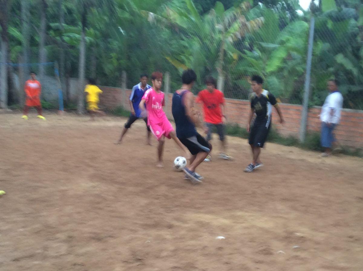 男子サッカー簡易試合風景2